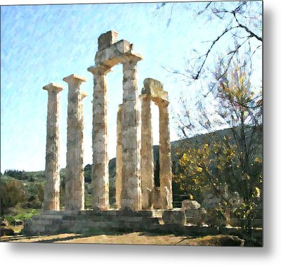 Temple Of Zeus Nemea Metal Print by Dan Chavez