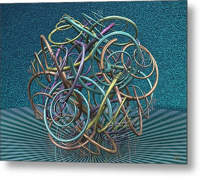 Temporal Displacement Metal Print by Manny Lorenzo