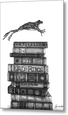 Ten Lords A Leaping Metal Print by J Ferwerda