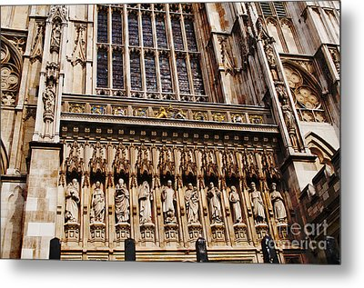 Ten Martyrs And The Great West Door Metal Print by MaryJane Armstrong