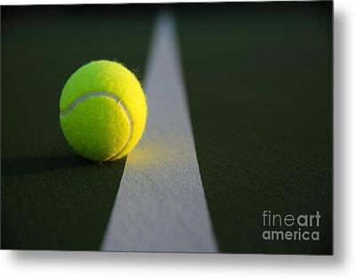 Tennis Ball At Last Light Metal Print by David Lee