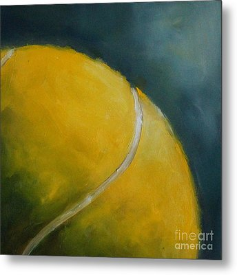 Tennis Ball Metal Print by Kristine Kainer