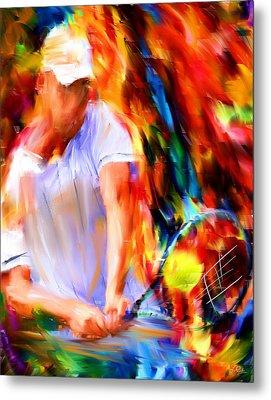 Tennis II Metal Print by Lourry Legarde