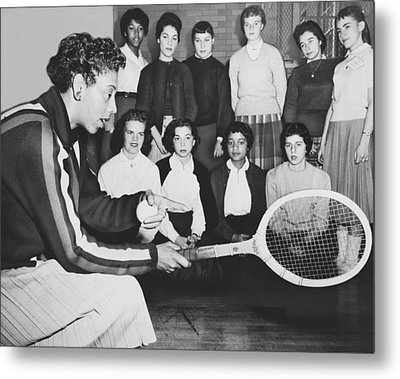 Tennis Star Althea Gibson Metal Print by Ed Ford
