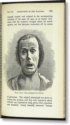 Terror. From A Photograph By Dr. Duchenne Metal Print by British Library