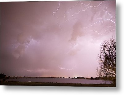 Terry Lake Lightning Thunderstorm Metal Print by James BO  Insogna