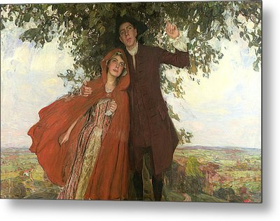 Tess Of The D'urbervilles Or The Elopement Metal Print by William Hatherell