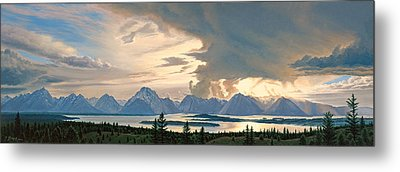 Teton Range From Signal Mountain Metal Print by Paul Krapf