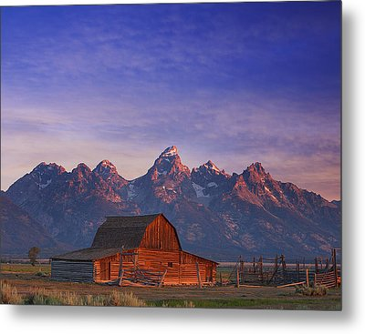 Teton Sunrise Metal Print by Darren  White