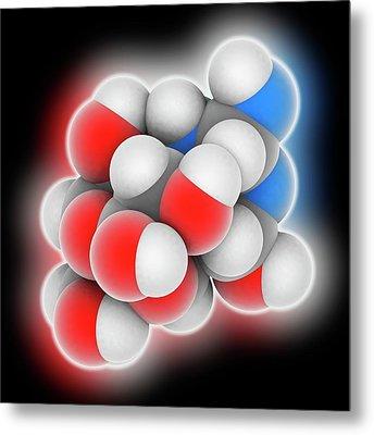 Tetrodotoxin Neurotoxin Molecule Metal Print by Laguna Design