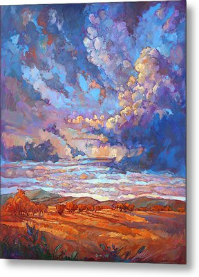Texan Sky Metal Print by Erin Hanson