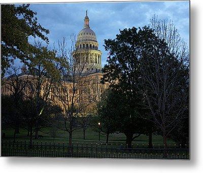 Texas Capitol Metal Print by Valerie Loop