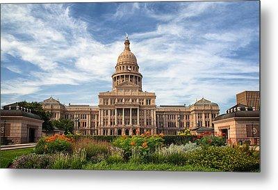 Texas State Capitol II Metal Print by Joan Carroll