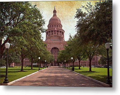 Texas State Capitol IIi Metal Print by Joan Carroll