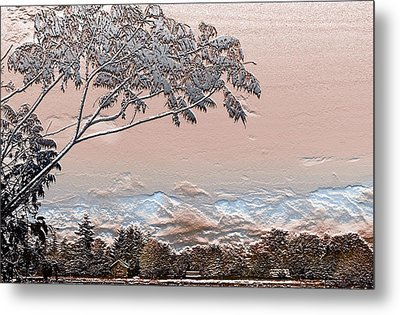 Textured Summer Metal Print by Barbara  White