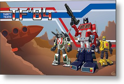 Tf'30 Toy Edition Metal Print by Otha Lohse