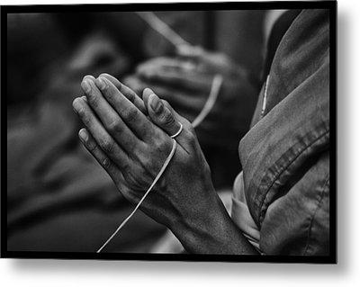 Thailand Buddhist Prayers 6 Metal Print by David Longstreath