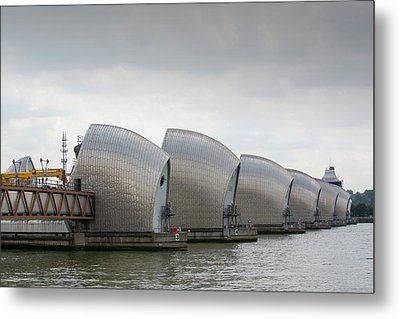 Thames Barrier Metal Print by Ashley Cooper
