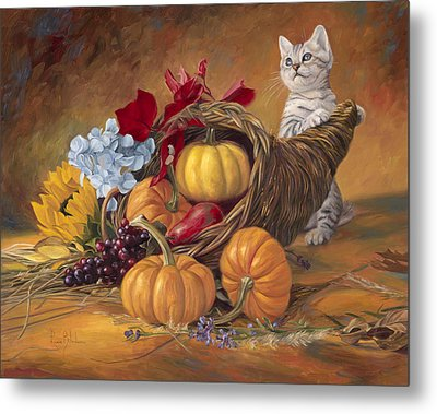 Thankful Metal Print by Lucie Bilodeau