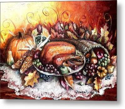 Thanksgiving Dinner Metal Print by Shana Rowe Jackson