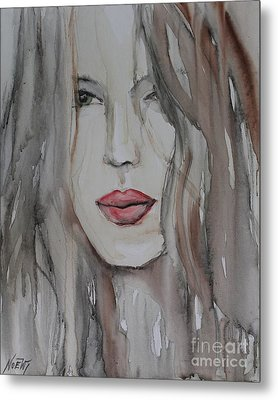That Lips Metal Print by Jindra Noewi