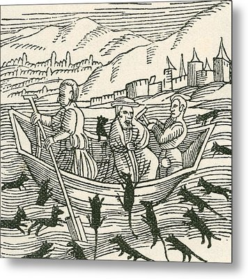 The 10th Century Folk Tale Of Hatto, Who Was The Archbishop Of Mainz, And What Happened Metal Print by English School