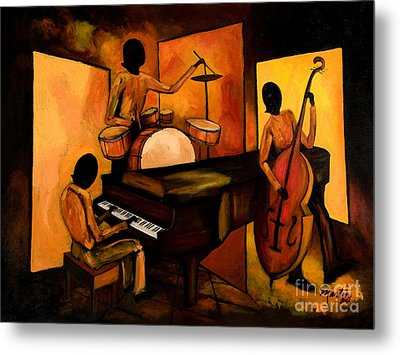 The 1st Jazz Trio Metal Print by Larry Martin