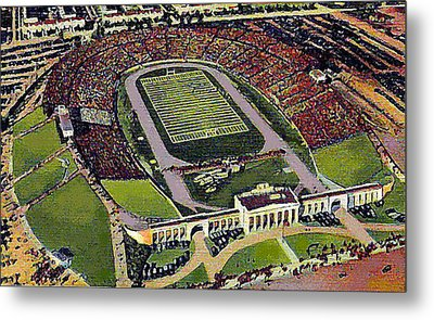 The 33rd Street Stadium In Baltimore Md Around 1940 Metal Print by Dwight Goss
