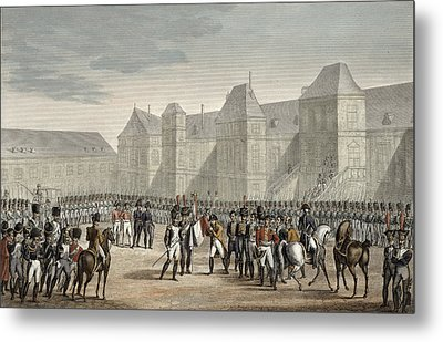 The Abdication Of Napoleon Metal Print by Louis Francois Couche