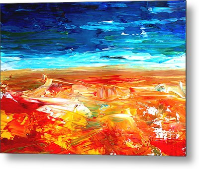 The Abstract Rainbow Beach Series II Metal Print by M Bleichner