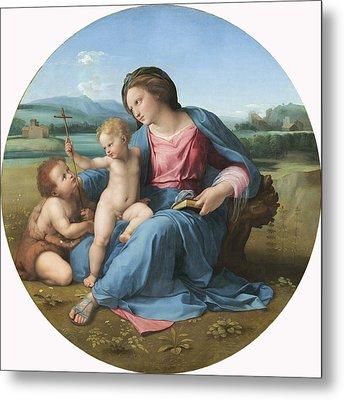 The Alba Madonna Metal Print by Raffaello Sanzio of Urbino