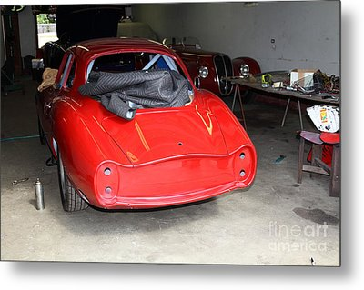 The Alfa Romeo Garage 5d25290 Metal Print by Wingsdomain Art and Photography