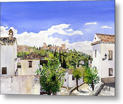 The Alhambra From The Albaicin Metal Print by Margaret Merry