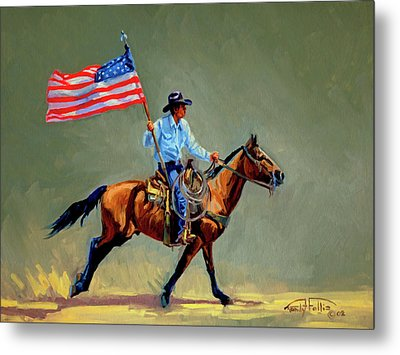 The All American Cowboy Metal Print by Randy Follis