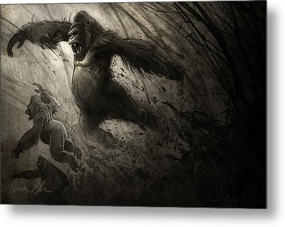 The Ambush Metal Print by Aaron Blaise