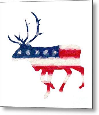 The American Elk Metal Print by Adam Asar