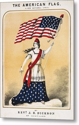 The American Flag A New National Lyric Metal Print by Aged Pixel