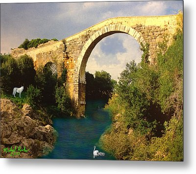 The Ancient Bridge Metal Print by Michael Rucker