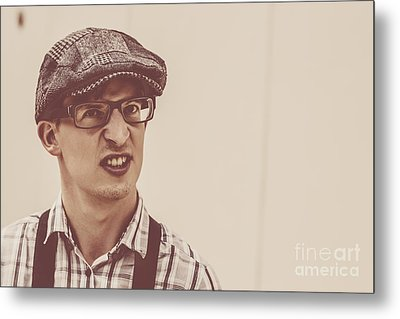The Angry Hipster Metal Print by Jorgo Photography - Wall Art Gallery