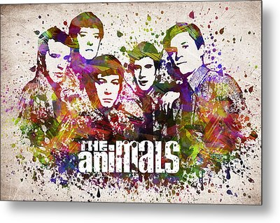 The Animals In Color Metal Print by Aged Pixel