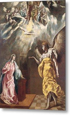 The Annunciation Metal Print by El Greco Domenico Theotocopuli