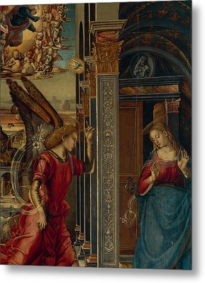 The Annunciation Metal Print by Luca Signorelli