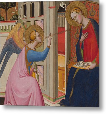 The Annunciation Metal Print by Master of Saint Verdiana