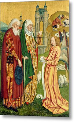 The Annunciation To Joachim And Anne, From The Dome Altar, 1499 Metal Print by Absolon Stumme