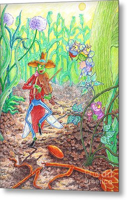 The Ant And The Grasshopper Metal Print by Teodora Reytor
