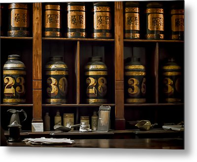 The Apothecary Metal Print by Heather Applegate
