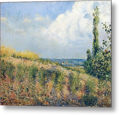 The Approaching Storm Metal Print by Camille Pissarro