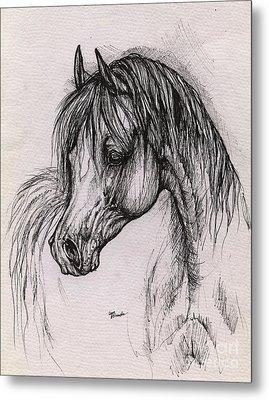 The Arabian Horse With Thick Mane Metal Print by Angel  Tarantella