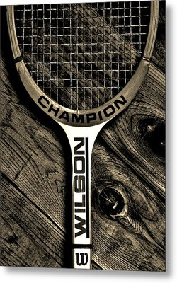 The Art Of Tennis 2 Metal Print by Benjamin Yeager