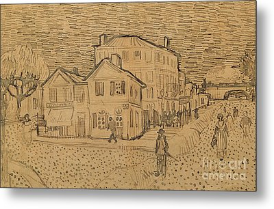 The Artists House In Arles Metal Print by Vincent Van Gogh